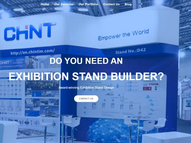 exhibition stand builder cover page