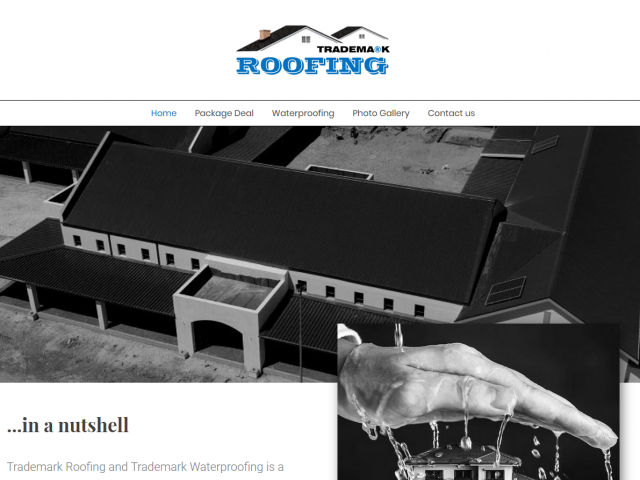 trademark roofing cover page